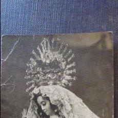 Fotografía antigua: ANTIGUA FOTOGRAFIA.VIRGEN DE LOS REMEDIOS.PATRONA DE VILLARRASA.FOTO BELLIDO.HUELVA.1957. Lote 57240057