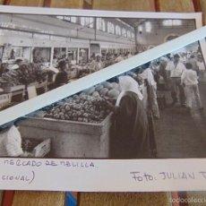 Fotografía antigua: FOTOGRAFIA AGENCIA PRENSA O EXPOSICION FOTO JULIAN ROJAS MERCADO DE MELILLA. Lote 57301595