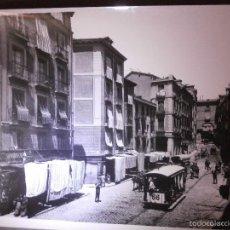 Fotografía antigua: MUY GRANDE Y ANTIGUA FOTOGRAFIA DE MADRID - 24 CM X 18 CM - CALLE CENTRO MADRID - INICIO S. XX. Lote 57559183