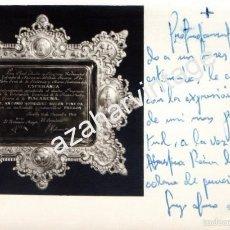 Fotografía antigua: SEMANA SANTA SEVILLA,1963,FOTOGRAFIA PLACA DE LA MACARENA A ANTONIO RODRIGUEZ BUZON,FIRMADA,140X90MM. Lote 57607825
