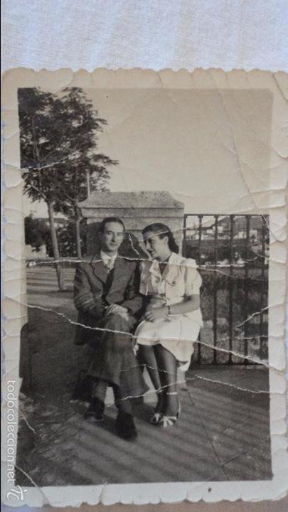 ANTIGUA FOTOGRAFIA DE PAREJA.RONDA.1941. (Fotografía Antigua - Fotomecánica)