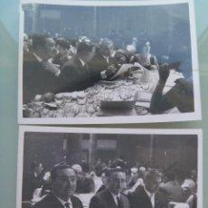 Fotografía antigua: LOTE DE 2 FOTOS DE UN CONVITE , AÑOS 60. Lote 57699800