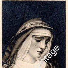 Fotografía antigua: SEMANA SANTA DE SEVILLA,1959, LA VIRGEN DE LA PAZ DE HEBRERA,REVERSO ESQUELA,58X112MM. Lote 57705492