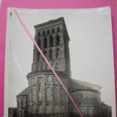 Fotografía antigua: FOTOGRAFÍA SAHAGÚN LEÓN IGLESIA SAN LORENZO ABSIDE 24 X 18 CM. Lote 57889559