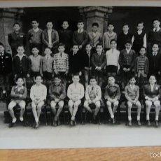 Fotografía antigua: COLEGIO LA INMACULADA , HH MARISTAS DE BARCELONA CURSO ELEMENTAL B 1961-62. Lote 58143086