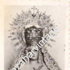 Fotografía antigua: ARACENA, HUELVA, ANTIQUISIMA FOTOGRAFIA DE LA VIRGEN DEL MAYOR DOLOR,62X90MM. Lote 58499975