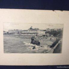 Fotografía antigua: VISTA DE BIARRITZ GRANDE PLAGE LE CASINO MUNICIPAL R. & J. D. 10505 CETRIN 26X39CMS. Lote 58516435