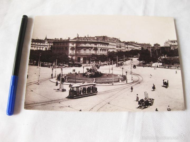 FOTOGRAFIA IMPRESA HAUSER Y MENET. 100. MADRID. PLAZA DE CASTELAR. COMISARIA REGIA DEL TURISMO (Fotografía Antigua - Fotomecánica)