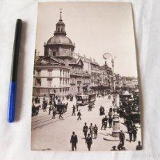 Fotografía antigua: FOTOGRAFIA IMPRESA HAUSER Y MENET. 100. MADRID. CALLE DE ALCALA. COMISARIA REGIA DEL TURISMO. Lote 58540785