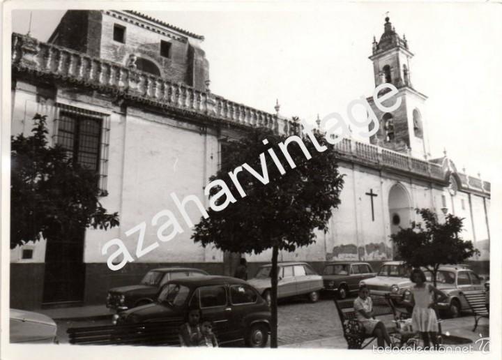 OLIVARES, SEVILLA, ANTIGUA FOTOGRAFIA, VISTA DE LA COLEGIATA,128X178MM (Fotografía Antigua - Fotomecánica)