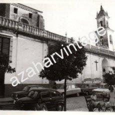 Fotografía antigua: OLIVARES, SEVILLA, ANTIGUA FOTOGRAFIA, VISTA DE LA COLEGIATA,128X178MM. Lote 58688418