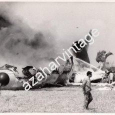 Fotografía antigua: MALAGA,1982, ACCIDENTE AEREO DE UN DC-10 DE LA COMPAÑIA SPANTAX, 44 MUERTOS,255X205MM. Lote 58693752