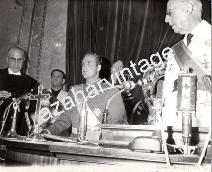 MADRID,1969, JUAN CARLOS DE BORBON JURA COMO PRINCIPE DE ESPAÑA,225X180MM (Fotografía Antigua - Fotomecánica)