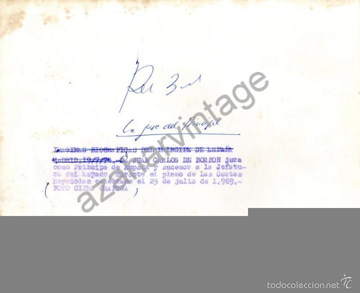 Fotografía antigua: MADRID,1969, JUAN CARLOS DE BORBON JURA COMO PRINCIPE DE ESPAÑA,225X180MM - Foto 2 - 58822996