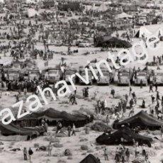 Fotografía antigua: EL AAIUN,1975, CAMPAMENTO MARCHA VERDE, ESPECTACULAR,178X128MM. Lote 59437985
