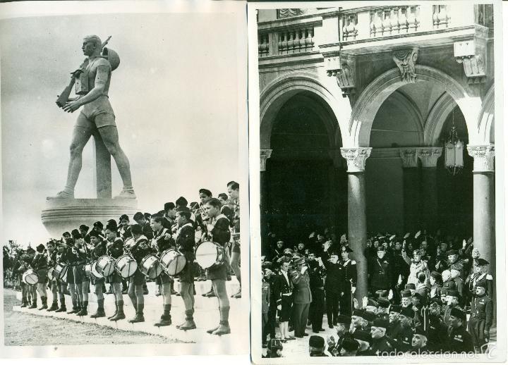 Fotografía antigua: FASCISMO ITALIANO. MUSSOLINI. LOS BALILLAS. LOTE DE 24 GRANDES FOTOS. HACIA 1930-1938. - Foto 2 - 59530171