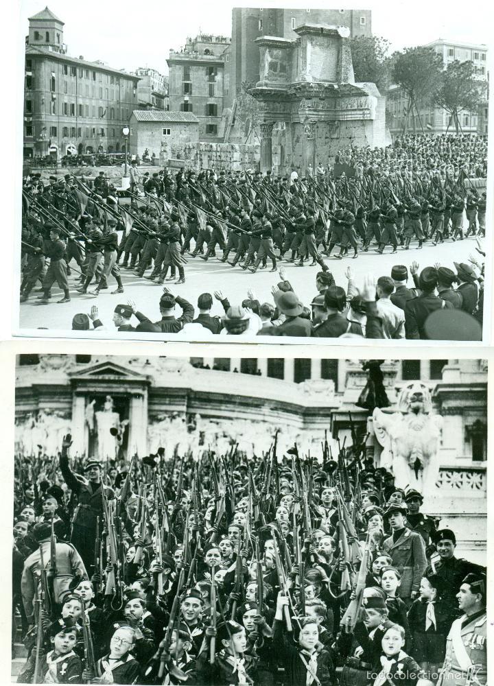 Fotografía antigua: FASCISMO ITALIANO. MUSSOLINI. LOS BALILLAS. LOTE DE 24 GRANDES FOTOS. HACIA 1930-1938. - Foto 3 - 59530171
