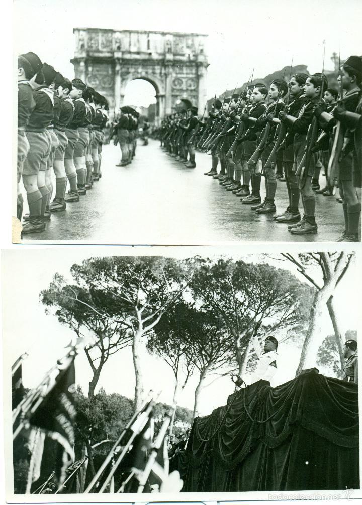 Fotografía antigua: FASCISMO ITALIANO. MUSSOLINI. LOS BALILLAS. LOTE DE 24 GRANDES FOTOS. HACIA 1930-1938. - Foto 5 - 59530171