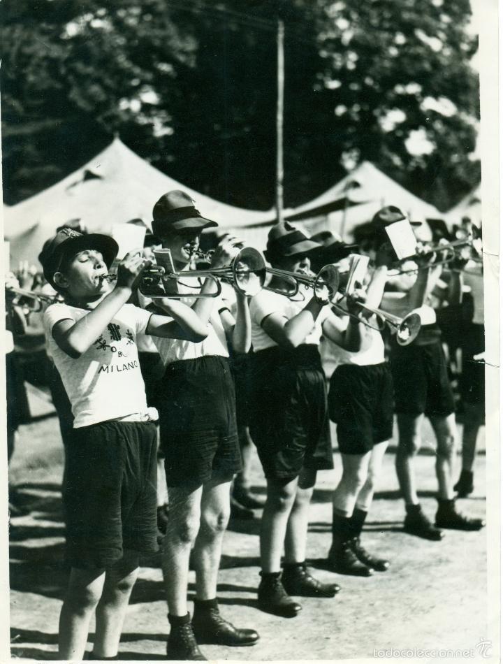 Fotografía antigua: FASCISMO ITALIANO. MUSSOLINI. LOS BALILLAS. LOTE DE 24 GRANDES FOTOS. HACIA 1930-1938. - Foto 6 - 59530171