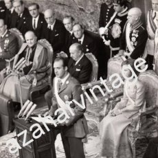 Fotografía antigua: MADRID,1975, DISCURSO DEL REY DON JUAN CARLOS, TRAS SU PROCLAMACION, 240X180MM. Lote 59929467