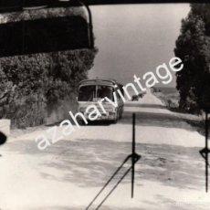 Fotografia antiga: ANTIGUA FOTOGRAFIA, CARRETERA DEL AEROPUERTO DE MORON DE LA FRONTERA,180X136MM. Lote 60611659