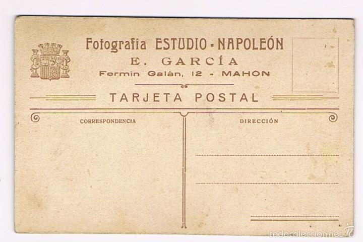 Fotografía antigua: MILITAR - MAHON - REPUBLICA - FOTOGRAFIA ANTIGUA - ESTUDIO NAPOLEON - E. GARCIA - Foto 2 - 61065843