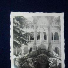 Fotografía antigua: GUADALAJARA. VIRGEN DEL PILAR. PATIO CENTRAL. 6 X 4,5 CM.. Lote 61534828