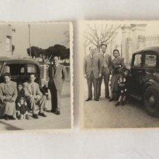 Fotografía antigua: DOS FOTO FOTOGRAFÍA DE COCHE. AÑOS 40. FIAT BALILLA. MATRÍCULA DE BARCELONA.. Lote 61915844