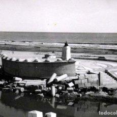 Fotografía antigua: ANTIGUA FOTOGRAFIA, CABAÑAL, VALENCIA, RIADA DE 1957, MONUMENTO VALENCIA A SOROLLA, . Lote 62131512