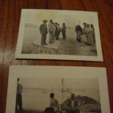 Fotografía antigua: 2 FOTOS ORIGINALES. MANIOBRAS MILITARES. POLLENSA. MALLORCA. AÑOS 20.. Lote 62543236