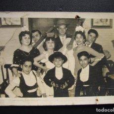 Fotografía antigua: CUADRO FLAMENCO DE CÓRDOBA LOS CARBONERILLOS.DEDICADA A A. M 14X9 CM. Lote 63186420