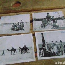 Fotografía antigua: LOTE DE 4 FOTOS FOTO FOTOGRAFIA DE CADIZ VALDELAGRANA PLAYA BARCA. Lote 63822955