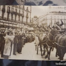 Fotografía antigua: FOTO GUERRA CIVIL ESPAÑOLA ,ENTRADA A LA PUERTA DEL SOL. Lote 64005435