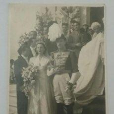 Fotografía antigua: FOTO CABALLERO DE LA MAESTRANZA DE CABALLERIA CON BICORNIO DE PLUMAS Y ESPADIN .DE AUMENTE, MADRIID. Lote 64345471