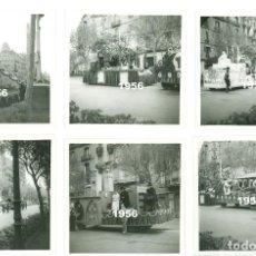 Fotografía antigua: 6 FOTOS DIADA SANT JORDI BARCELONA CARROZAS DE BERGA VIC BADALONA GRANOLLERS IGUALADA AÑO 1956. Lote 64453175