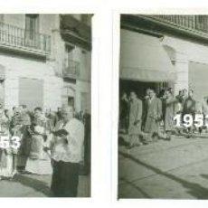 Fotografía antigua: 4 FOTOS ORIGINALES PROCESION SANTA EULALIA BARCELONA PASEO BONANOVA SARRIA PASTELERIA FOIX AÑO 1953. Lote 64456531