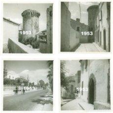 Fotografía antigua: 4 FOTOS ORIGINALES VILASAR VILASSAR DE MAR TORRE DE CAN NADAL AÑO 1953. Lote 64460431