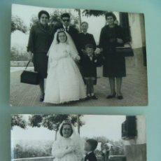 Fotografía antigua: LOTE DE 2 FOTOS DE NIÑA DE PRIMERA COMUNION . AÑOS 60 .. Lote 64857083