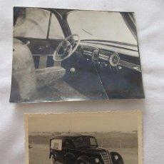Fotografía antigua: LOTE DOS FOTOS ANTIGUAS FUNERARIA COCHE FUNERARIO. Lote 66129066