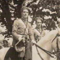 Fotografía antigua: FOTOGRAFIA MILITAR ESCUADRON DE DE CLARINES Y TIMBALES , ALFONSO XIII. Lote 66271314
