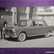 Fotografía antigua: FOTOGRAFIA - COCHE SEAT 1500 - FOTO LUESMA - HUESCA -. Lote 66300234