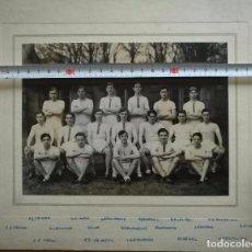 Fotografía antigua: LOTE DE 6 ANTIGUAS FOTOGRAFIAS - EQUIPO COLTS XV - 1940. Lote 67301577