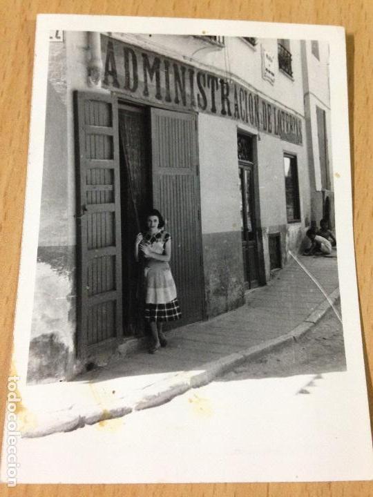 ANTIGUA FOTOGRAFIA ADMINISTRACION DE LOTERIA AYORA VALENCIA (Fotografía Antigua - Fotomecánica)