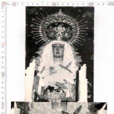 Fotografía antigua: DOS FOTOGRAFÍAS DE LA VIRGEN DE MONTSERRAT, SEMANA SANTA DE SEVILLA. Lote 67558629