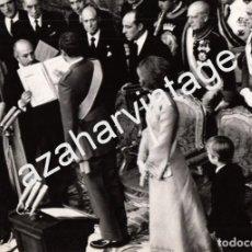 Fotografía antigua: MADRID, 1975, JURA DE EL REY DON JUAN CARLOS EN LAS CORTES,240X170MM. Lote 67601125
