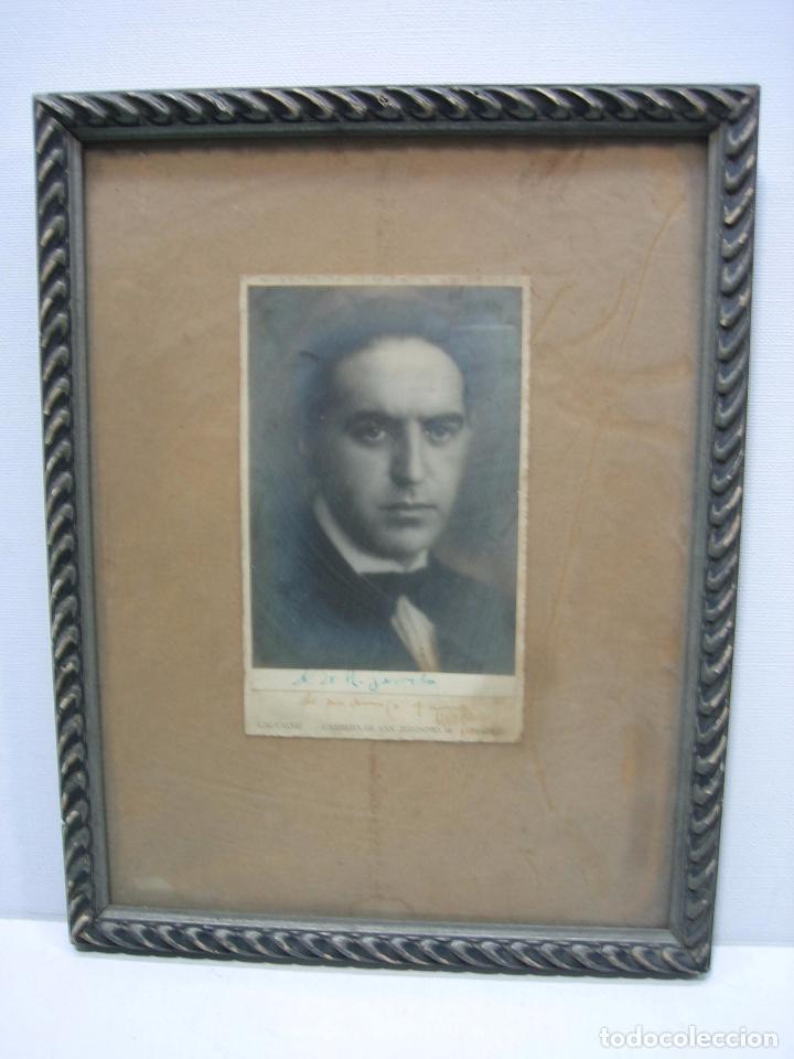 FOTO ANTIGUA DE UN SEÑOR DE CÓRDOBA. AL DOCTOR R. GARRIDO DE MI AMIGO Y COMPAÑERO MARAÑON 30X22,5 CM (Fotografía Antigua - Fotomecánica)