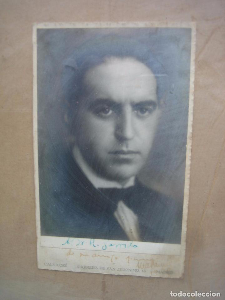 Fotografía antigua: Foto antigua de un señor de Córdoba. Al Doctor R. Garrido de mi amigo y compañero Marañon 30x22,5 cm - Foto 3 - 67837821