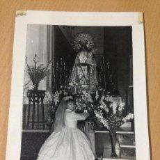 Fotografía antigua: ANTIGUA FOTOGRAFIA VIRGEN AYORA VALENCIA. Lote 67958561