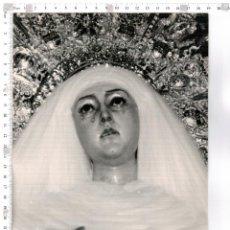 Fotografía antigua: FOTOGRAFÍA DE LA VIRGEN DE LAS AGUAS SEMANA SANTA DE SEVILLA, . Lote 68545421