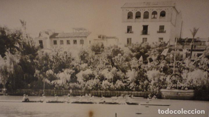 Fotografía antigua: ANTIGUA FOTOGRAFIA.REGATA POR EL RIO GUADALQUIVIR.SEVILLA.AÑOS 60? - Foto 2 - 68944169